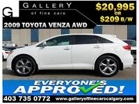 2009 Toyota Venza V6 AWD $209 bi-weekly APPLY NOW DRIVE NOW