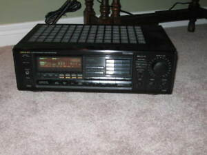 Onkyo Receiver and Disc Player with bookshelf spkrs