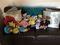 Angry Bird & Minions Soft Toy Bundle
