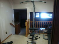 $300 Body Solid Lat/Row Machine, no weights & disassembled