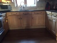 Kitchen Units solid Oak with Granite Work Tops