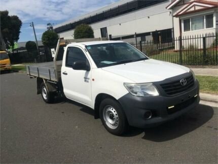 2012 Toyota Hilux TGN16R MY12 Workmate White Automatic Cab Chassis Lidcombe Auburn Area Preview