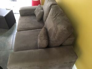 Suede look two seater sofa / couch Petersham Marrickville Area Preview