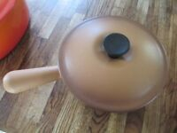 Vintage Rustic Le Creuset Lidded Saucepan