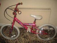 "GIRLS 18"" GOLDRUSH MISTY BICYCLE/BIKE."