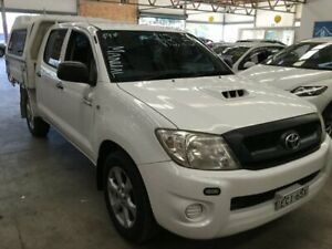 2009 Toyota Hilux KUN16R MY09 SR 4x2 White 5 Speed Manual Utility Cardiff Lake Macquarie Area Preview