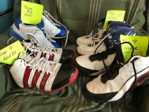 fOUR PAIRS OF BASKETBALL SHOES - NIke, Adidas, and ANdi
