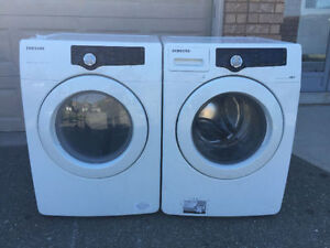 2014 model Samsung front loader stackable washer electric dryer
