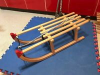 traditional wooden sledge
