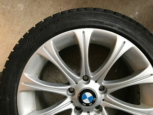 BMW CONTINENTAL WINTER TIRES & RIMS WHEELS  3 SERIES 328 335 M5 Cambridge Kitchener Area image 1