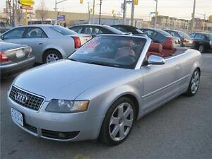 2004 Audi S4 2dr Cabriolet Quattro |Red Leather | Convertible |