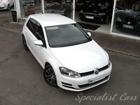 VOLKSWAGEN GOLF 2.0 GT TDI BLUEMOTION TECHNOLOGY DSG 5d AUTO 148 B (white) 2014