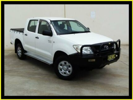 2009 Toyota Hilux GGN25R 09 Upgrade SR (4x4) White 5 Speed Manual Dual Cab Pick-up Penrith Penrith Area Preview