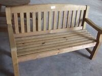 EMILY 4 FOOT GARDEN BENCH SOLID WOOD TANALISED BRAND NEW! RRP£199 1 OFF BARGAIN! + OTHER STUFF TO GO