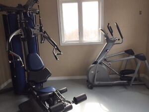 Home gym and eliptical