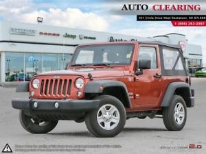 2014 Jeep Wrangler Sport / 1 OWNER / SASK TAX PAID