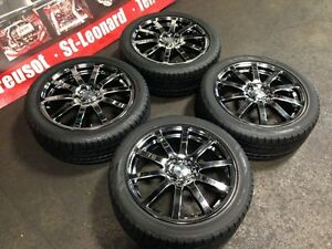 MUGEN NR 17X7.0JJ OFFSET +53 5X114.3 MAGS WITH TIRES