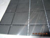 Mosaic non-slip black porcelain floor tiles NEW UNUSED