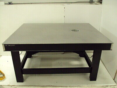 Tested Newport 4 X 5 Optical Table Tmc Pneumatic Self Level Isolators Tie Bar