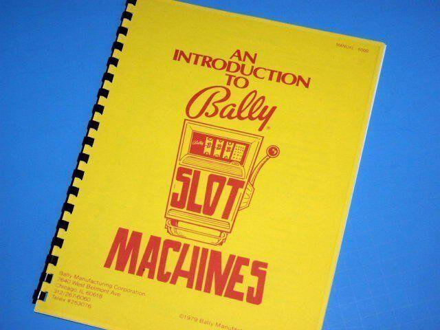 Bally ELECTROMECHANICAL Introduction to Slot Machine manual