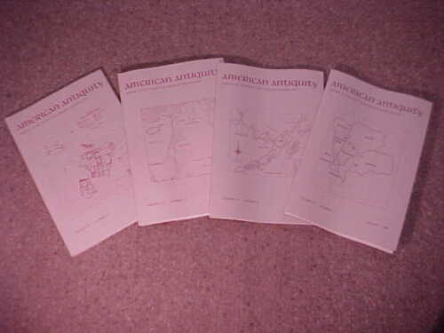 Complete set of 4-1992 American Antiquity-Journal Society American Archaeology