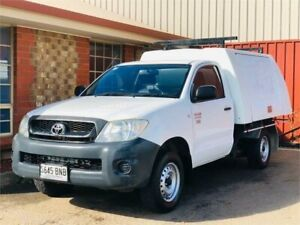 2010 Toyota Hilux TGN16R MY10 Workmate 4x2 White 5 Speed Manual Cab Chassis Mawson Lakes Salisbury Area Preview