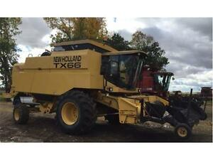 1999 New Holland TX66 Combine w/ SWATHMASTER PICK UP