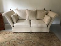 2 x BEAUTIFUL KNOWLE SOFAS AND MATCHING CHAIR