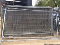 LARGE SELECTION OF STEEL FENCE PANELS AND FREE STANDING COW HORN FENCE PANELS / BARRIERS
