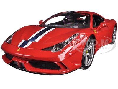 FERRARI 458 SPECIALE RED 1:18 DIECAST MODEL CAR BY BBURAGO 16002