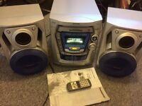 Panasonic SC-AK200 Compact Stereo System (Silver)