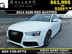 2014 Audi RS5 TITANIUM PKG V8 $309 bi-weekly APPLY NOW DRIVE NOW