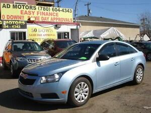 2011 CHEVROLET CRUZE AUTO LOW KMS 19K -100% APPROVED FINANCING