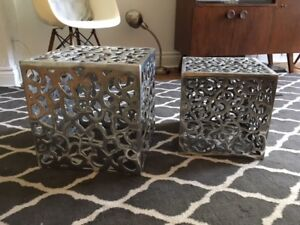 Pewter Nesting Tables/Boxes