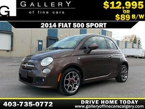 2014 Fiat 500 Sport $89 bi-weekly APPLY NOW DRIVE NOW