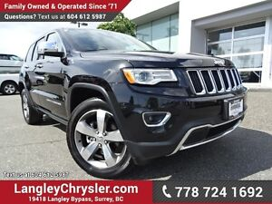 2016 Jeep Grand Cherokee Limited ACCIDENT FREE w/ LUXURY GROU...
