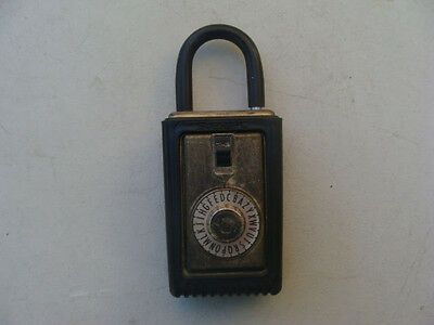 Vintage Supra-c Realtor Lock Box Combination Padlock Locked