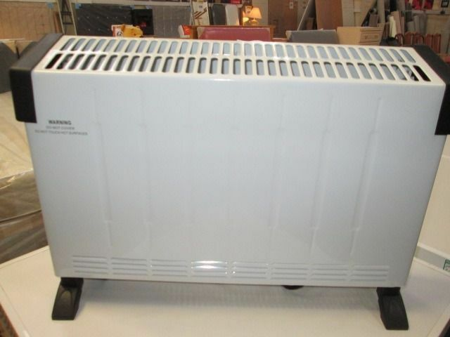 *BRAND NEW SEALED BOXED*ELECTRIC 2000W WHITE & BLACK CONVECTOR HEATER+ONLY £20*
