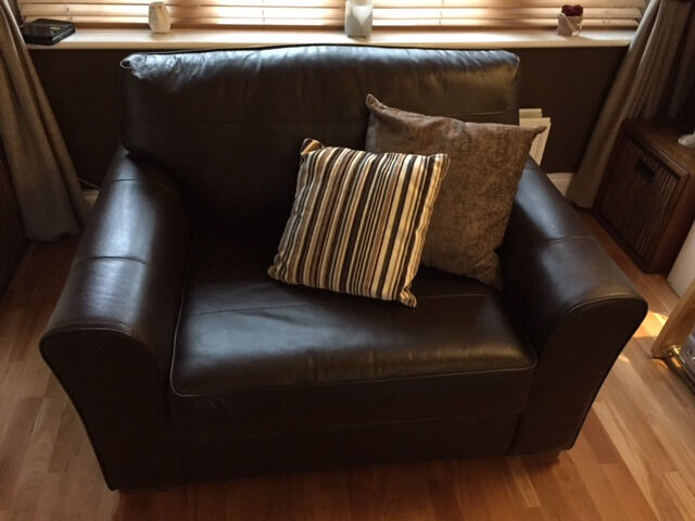 Next Snuggle Leather chair for sale