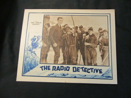 """The Radio Detective Chapter 4  """"Boy Scouts Loyalty"""" 1926 Archery Poster"""