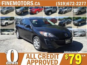 2011 MAZDA MAZDA 3 GS * POWER ROOF * CAR LOANS FOR ALL CREDIT