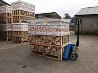 Kiln Dried Firewood Ash Hardwood Logs 1 Cubic Meter Stacked and Crated