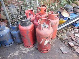 GAS BOTTLES EMPTY CAMPING LOG BURNER CHIMNEA