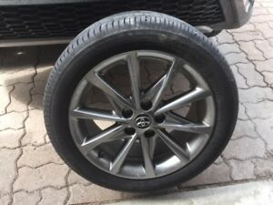 "tires-4  17""  on alloy rims"