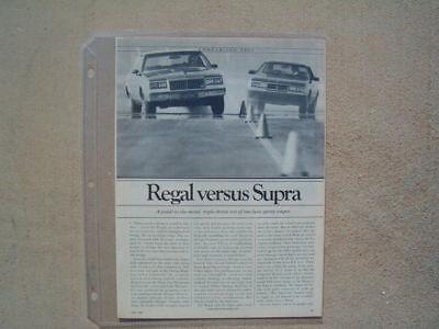 1981 BUICK REGAL TURBOCHARGED VS. TOYOTA SUPRA