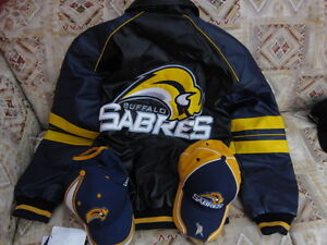 Licensed NHL Buffalo Sabres Jacket and two Hats