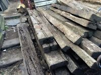 GRADE C RAILWAY SLEEPER'S / TIMBER'S RECLAIMED SALVAGE £8 EACH DELIVERY ALSO AVAILABLE