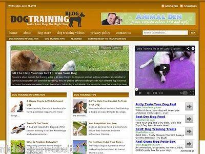 Dog Training   Puppy Behavior Niche Wordpress Blog Website For Sale