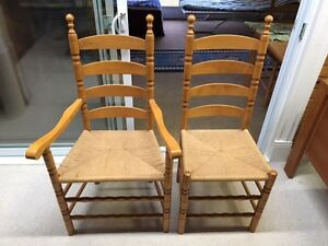 4 Ikea dining chairs / 2 matching captian chairs