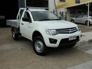 2010 Mitsubishi Triton MN MY10 GLX 4x2 White 4 Speed Automatic Cab Chassis Moorooka Brisbane South West Preview